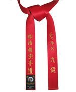 Deluxe Satin Red Master Belt